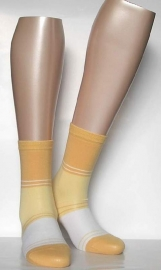 Block Stripe - yellow - fantasiekousen Falke, maat 35-38