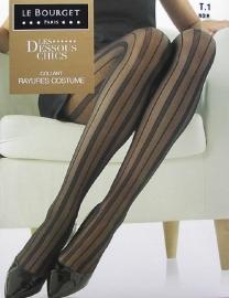 Rayure Costume - zwarte fantasiekousen, panty's Le Bourget