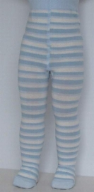 Baby Stripe powder blue - broekkousen - Falke