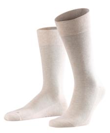 London - sand - Falke kousen zonder elastiek, speciaal voor de bloedsomloop, maat 47-50