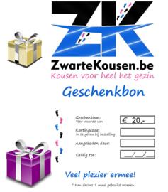 Geschenkbon / Cadeaubon 20€