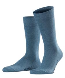 Family - l.denim - jeansblauwe, katoenen Falke kousen, maat 39-42 (heren)