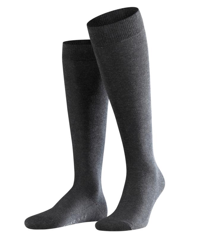 Family Knee - anthracite - katoenen kniekousen Falke, maat 47-50