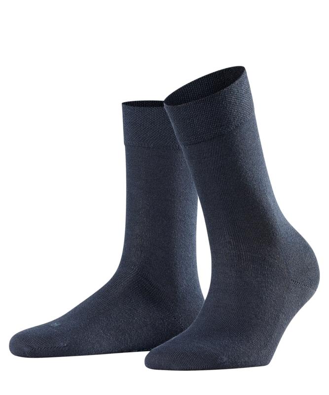 London - d.navy - donkerblauwe Falke kousen zonder elastiek, speciaal voor de bloedsomloop, maat 39-42 (dames)