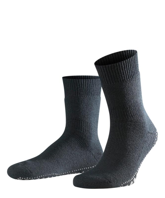 Homepads - asphalt - donkergrijze anti-slip kousen Falke, maat 35-38