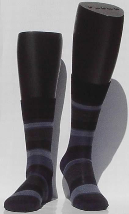 Block Stripe - navy - ultrafijne Falke kousen voor heren, maat 41-42