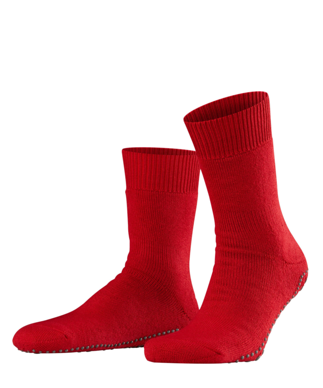 Homepads - scarlet - rode anti-slip kousen Falke, maat 43-46