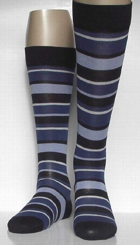 Fashion Stripe - blue - kniekousen Falke, maat 35-38