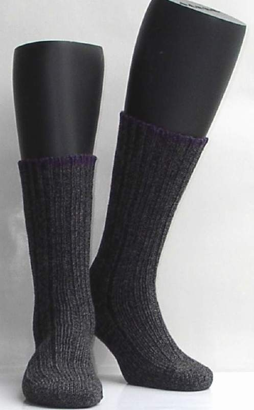 Boot sock - anthracite - dikke, warme kousen Falke, maat 39-42 (dames en heren)