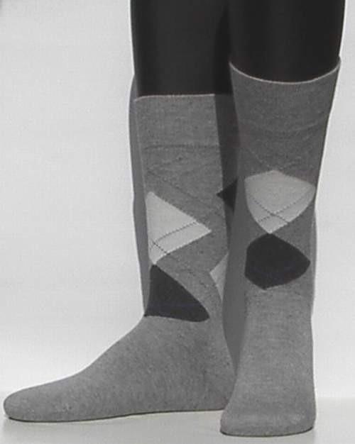 Modern Argyle - l.grey - kousen voor heren, Falke, maat 39-42 (heren)