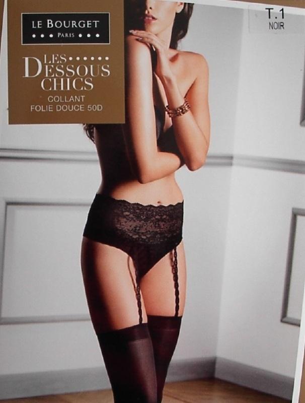 Folie Douce - zwarte, sexy kousen Le Bourget