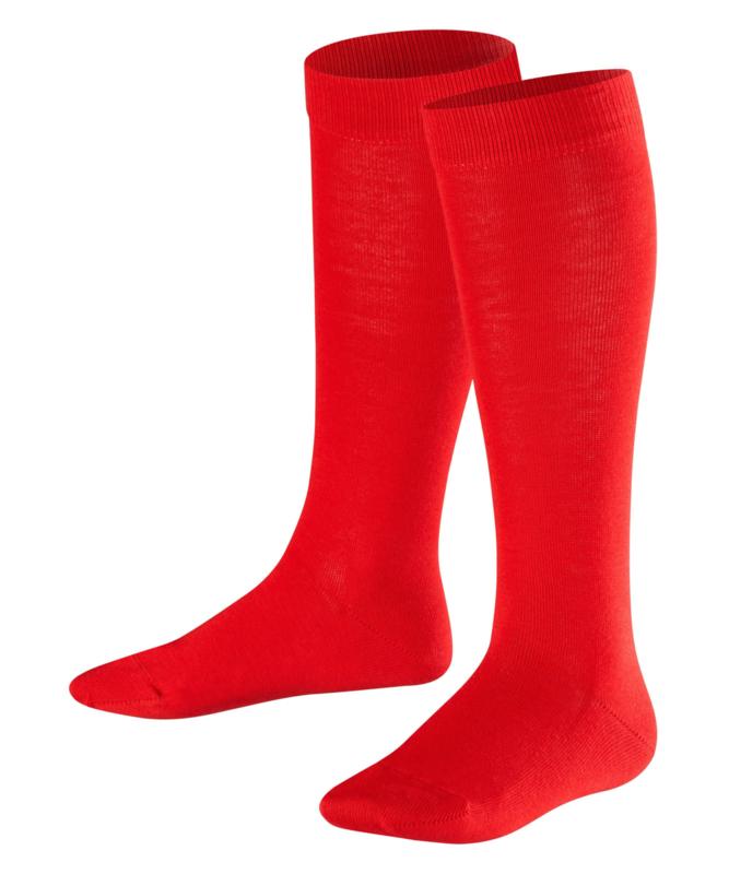 Family Knee - fire - rode, katoenen kniekousen Falke, maat 19-22