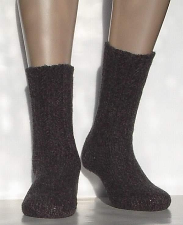 Mouline Kids - dark brown - warme kousen Falke, maat 31-34