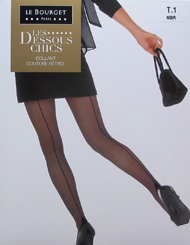 Couture Retro - zwarte naadkousen, panty's Le Bourget