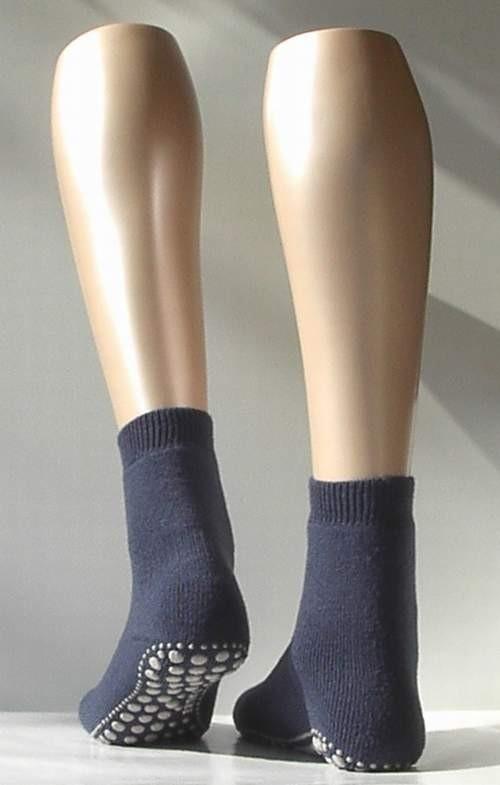 Catspads, antislip sokken - d.blue mel. - Falke kousen, maat 23-26