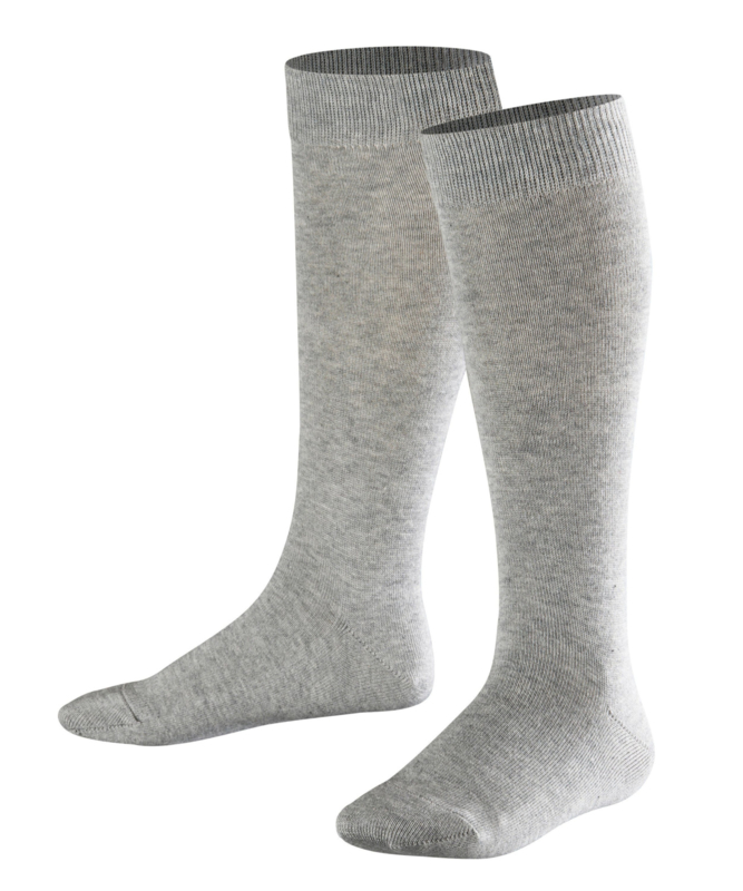 Family Knee - l.grey - grijze, katoenen kniekousen Falke, maat 35-38