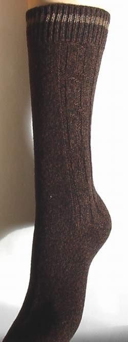 Cable - brown - dikke wintersokken met kabelpatroon Falke, maat 43-46