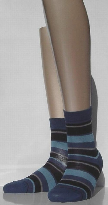 Fashion Stripe - Deep Water - Falke kousen, maat 27-30