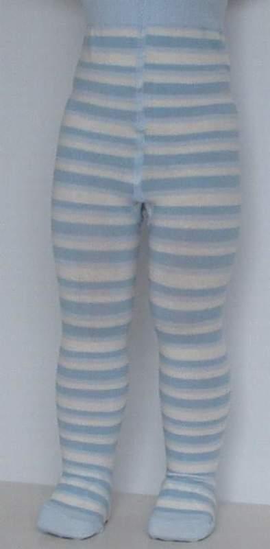 Baby Stripe powder blue - broekkousen - Falke