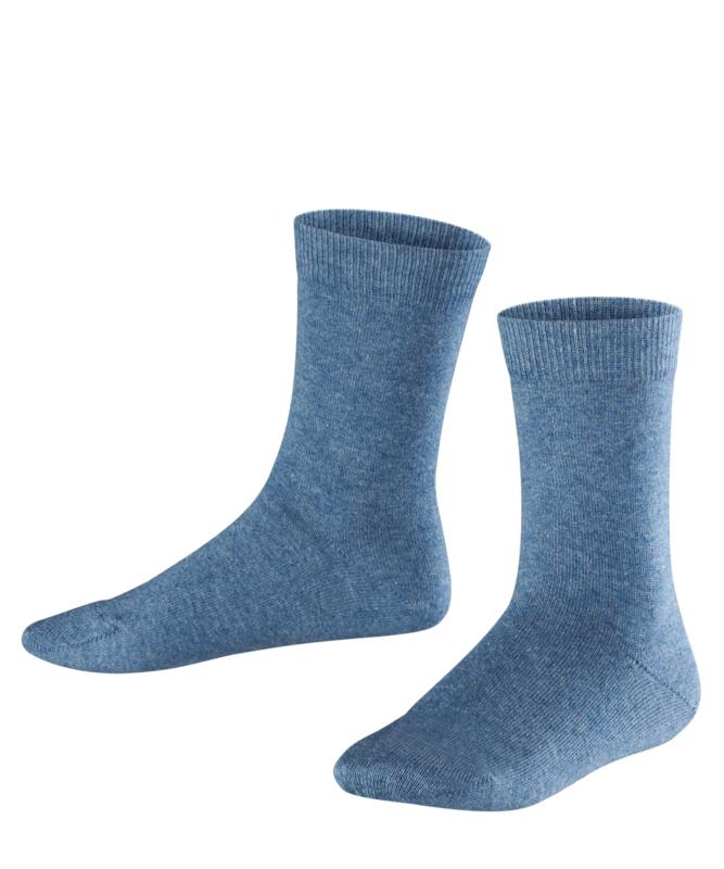 Family - l.denim - jeansblauwe Falke kousen, maat 19-22