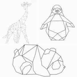 DIY: Origami dieren / geometrische figuren van washi tape
