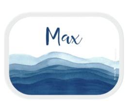 Mepal Broodtrommel met naam | Waves