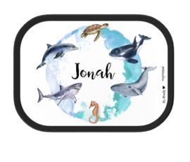 Mepal Broodtrommel met naam | Zeedieren