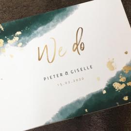 De herinneringskist van het huwelijk van Pieter en Giselle