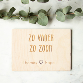 Houten kaart Vaderdag | We are Golden