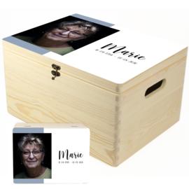 Herinneringskist met staande foto - memory box om herinneringen in te bewaren