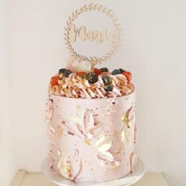 De eerste verjaardagstaart van Marie | Een taarttopper met naam