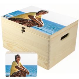 Herinneringskist met foto - memory box om herinneringen in te bewaren