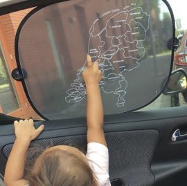 Auto zonnescherm topografie Nederland