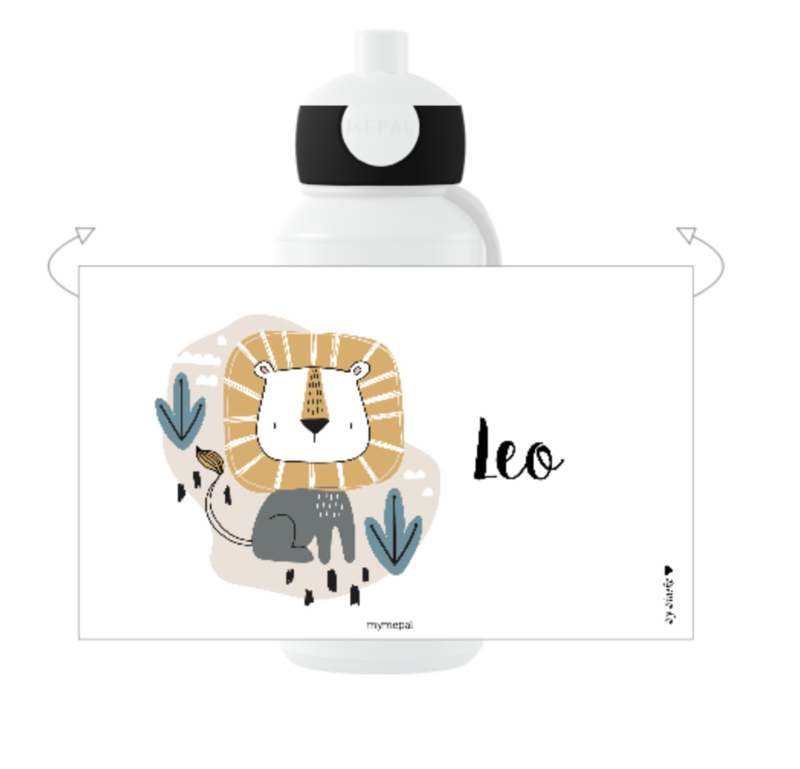 Mepal drinkbeker met naam | Leeuw