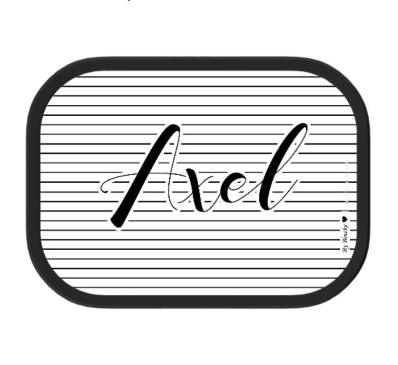 Mepal broodtrommel met naam | Streepjes