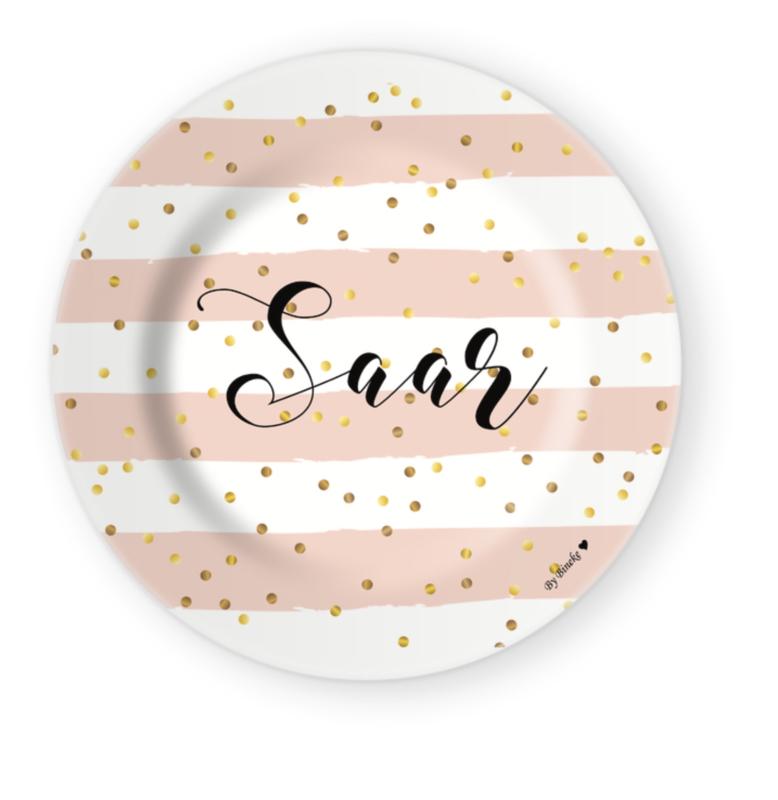 Kinderbord: Naambord Confetti Stripes
