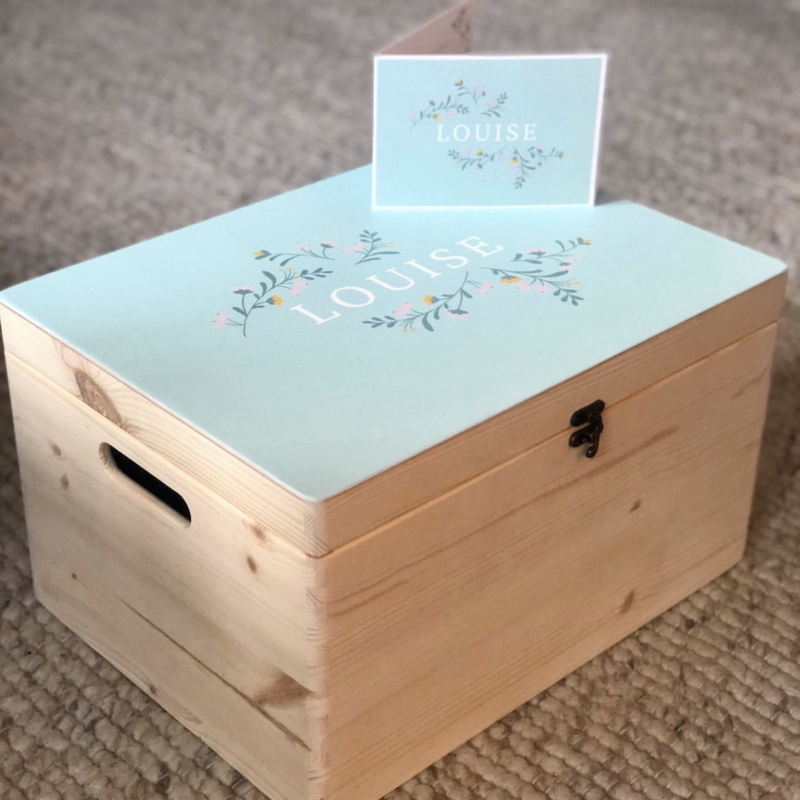 Herinneringskist met geboortekaartje | Annet Weelink
