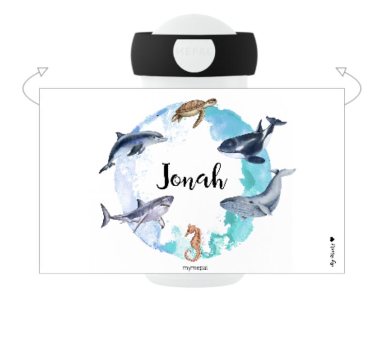 Mepal Drinkfles met naam | Zeedieren
