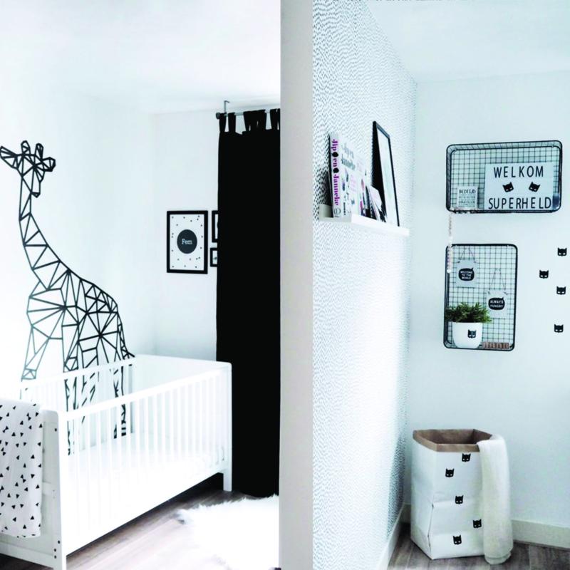 Een slaapkamer, twee kinderen, twee stijlen