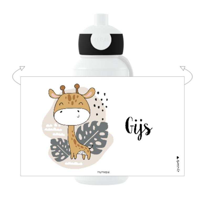 Mepal broodtrommel met naam | Giraffe