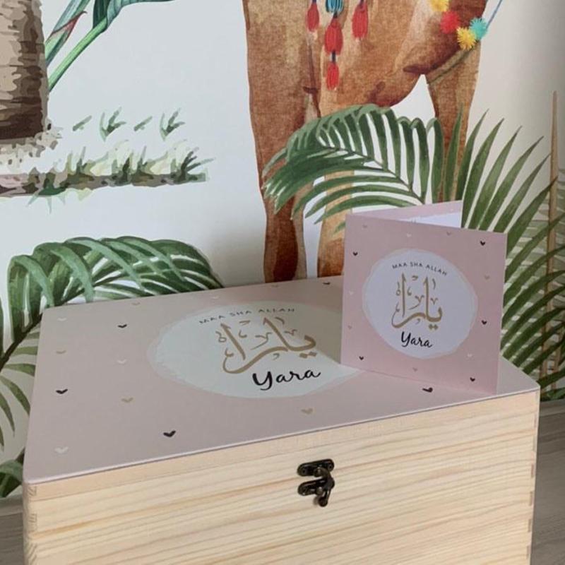 Herinneringskist met geboortekaartje | Noryoumi Cards