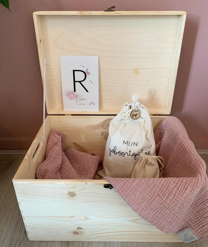 Review herinneringsdoos geboortekaartje | Melanie