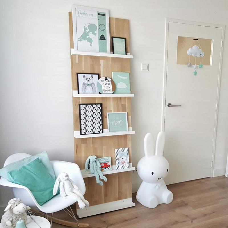 Mintgroene Babykamer Accessoires.De Mintgroene Babykamer Van Milan Geboorteposter