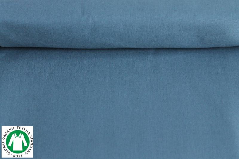GOTS Poplin Dusty Blue