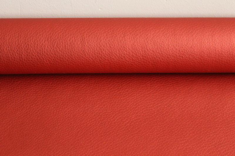 Metallic Kunstleer Red