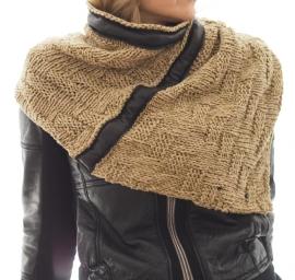"""Wabi-sabi XII"" hand knit cowl"