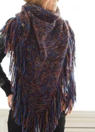 """""""Trian II"""" handknit shawl"""