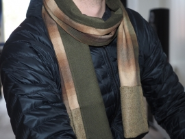 """Castor"" wool & cashmere scarf"