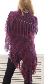 """""""Trian IX"""" handknit shawl"""