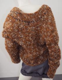 """Beadu"" handknit wool blend cardigan"